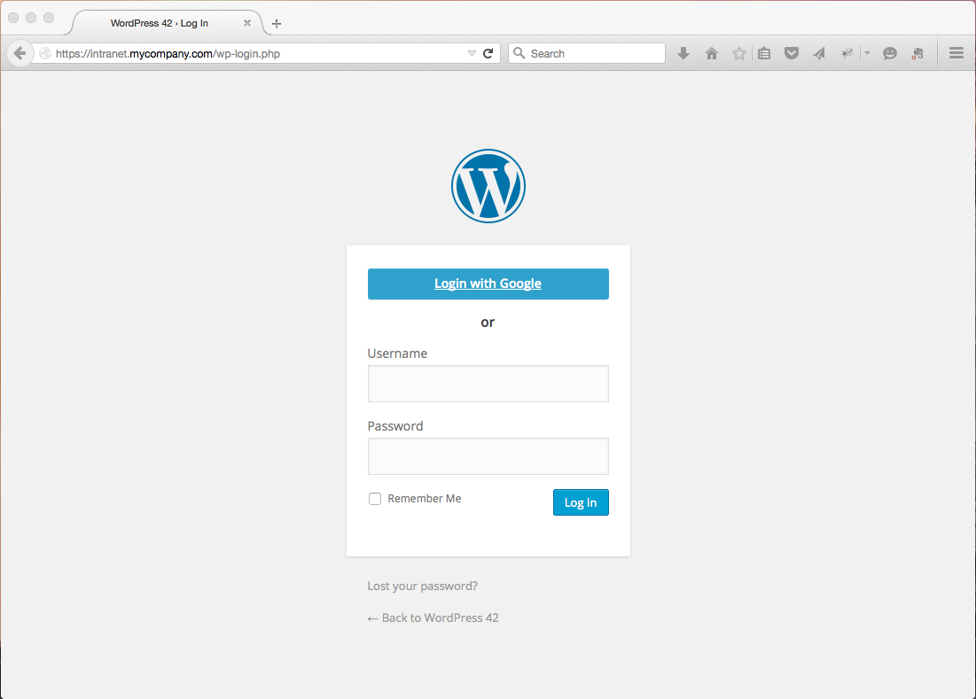 Google apps login for wordpress wpg Google sites sign in