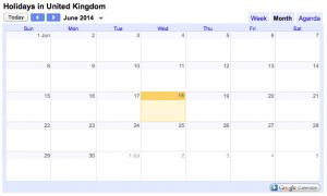 Calendar embed