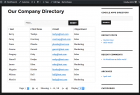 Display entire company or OrgUnit in sortable table (Enterprise version only)