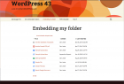 Embedded folders display neatly within your page, inheriting styles from your theme (Enterprise version)