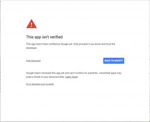 App Unverified