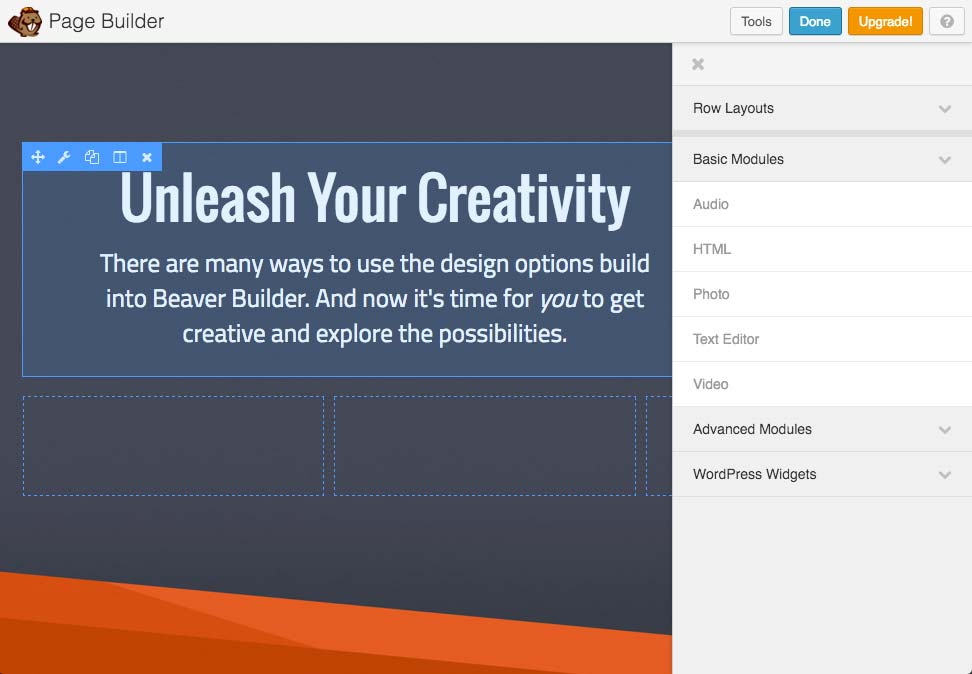 Beaver Builder WordPress plugin for web design