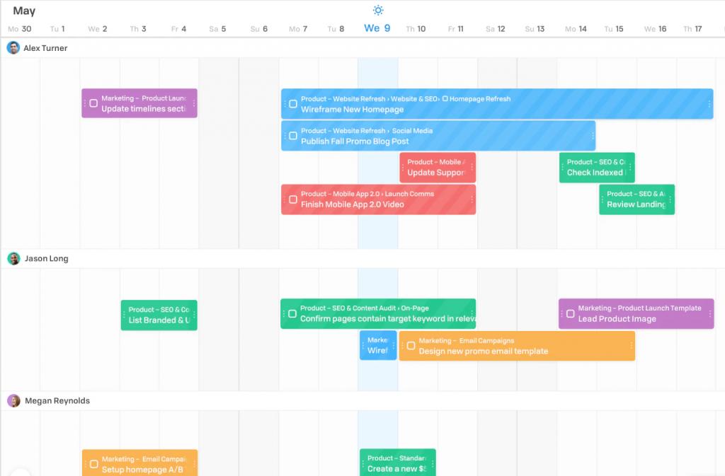 Flow calendar view