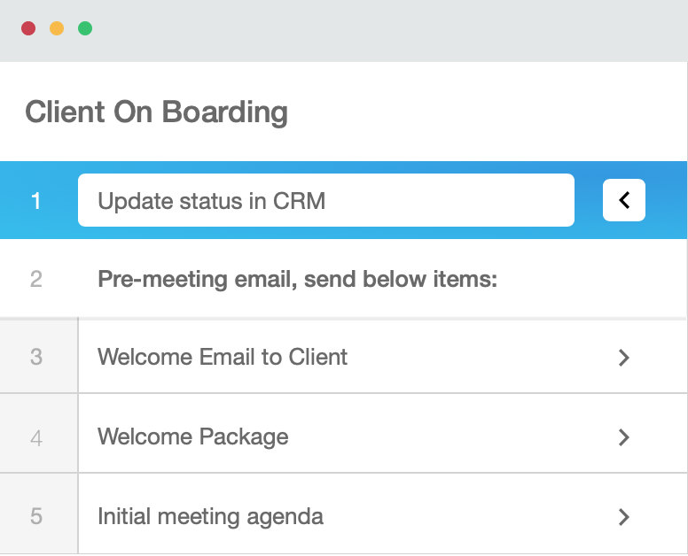 Process Street client onboarding