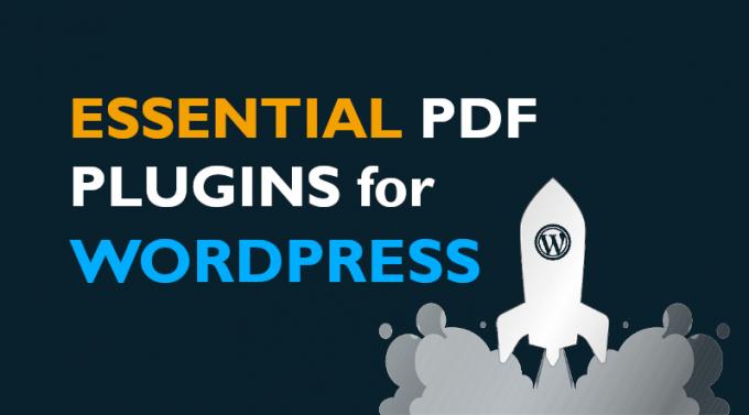 Essential PDF Plugins for Wordpress