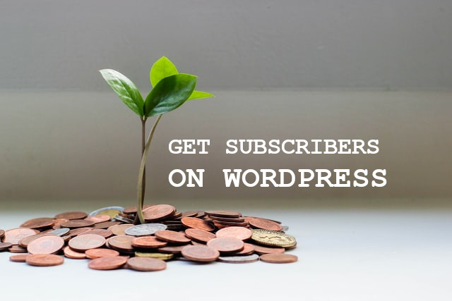 Get subscribers on Wordpress
