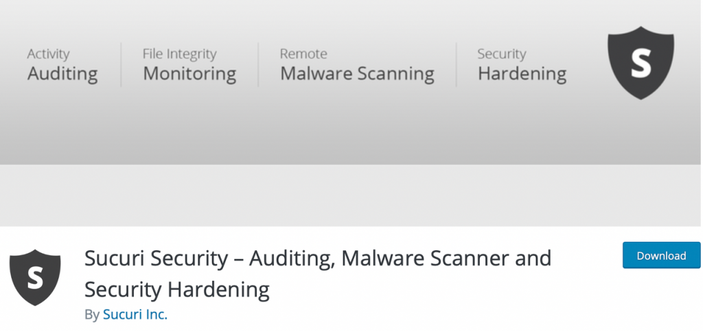 "Banner for the Sucuri Security ""Auditing, Malware Scanner and Security Hardening"" plugin"