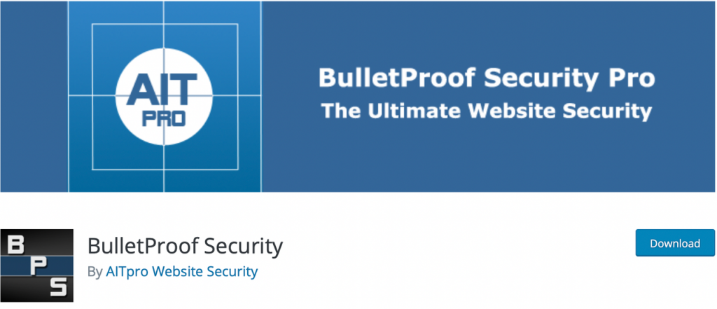 "The official banner image for ""BulletProof Security Pro"" plugin, with it's branding."