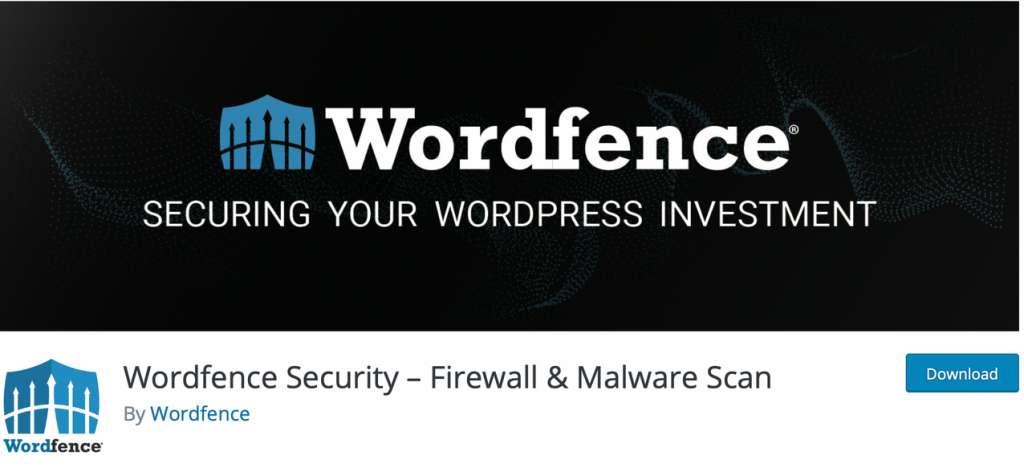 "Banner for ""Wordfence Security"" plugin"