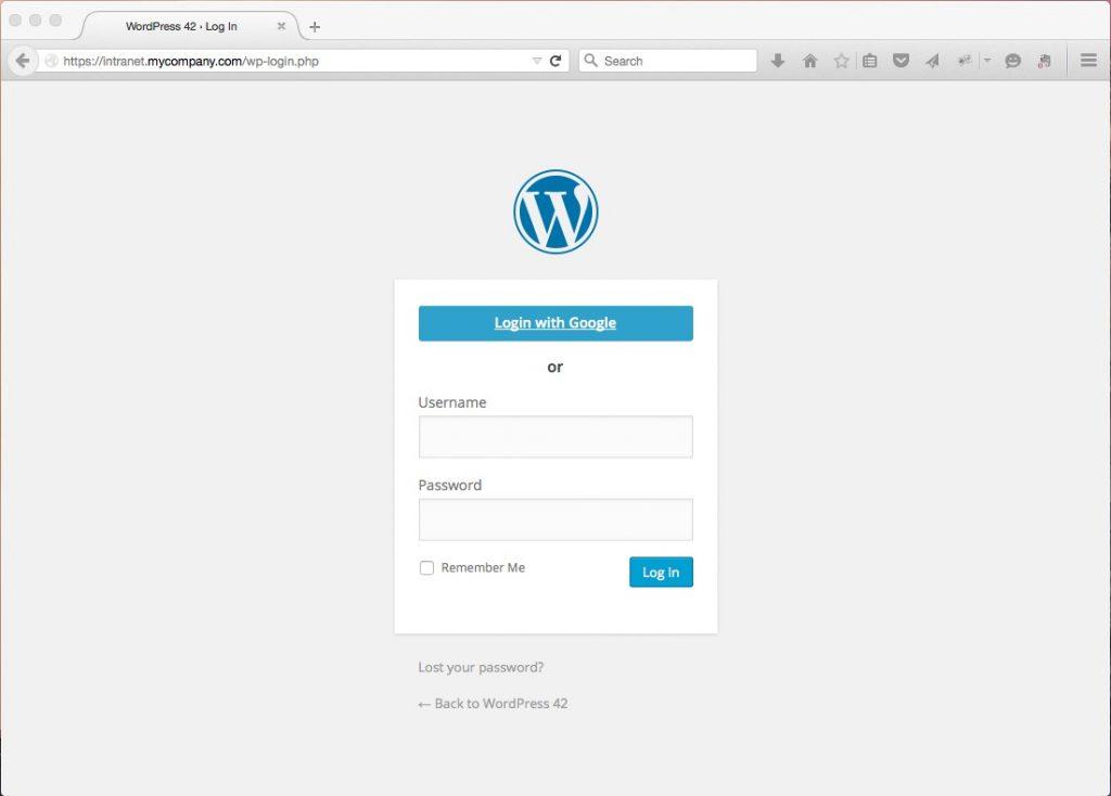 Google Apps Login for WordPress